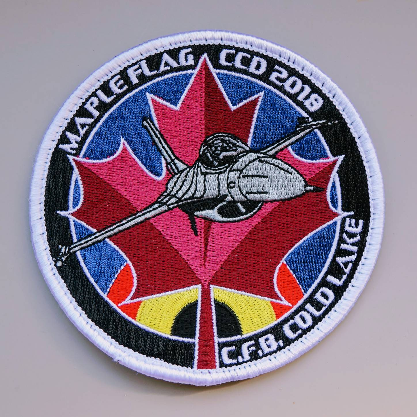 regular embroidered patch 3 - design by Peter Van Caneghem